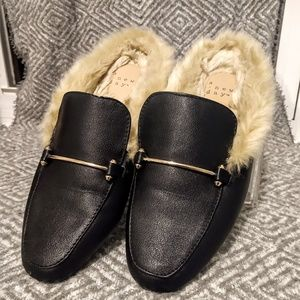 Faux-Fur Lined Loafers